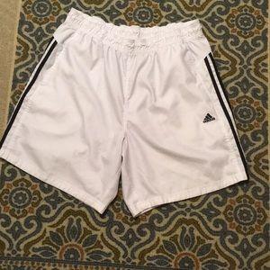 Adidas white mens basketball shorts